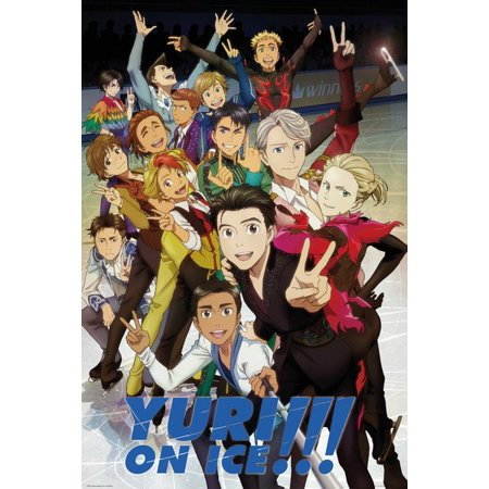 Yuri On Ice - Manga / Anime TV Showw Poster / Print (The Cast) (Size: 24
