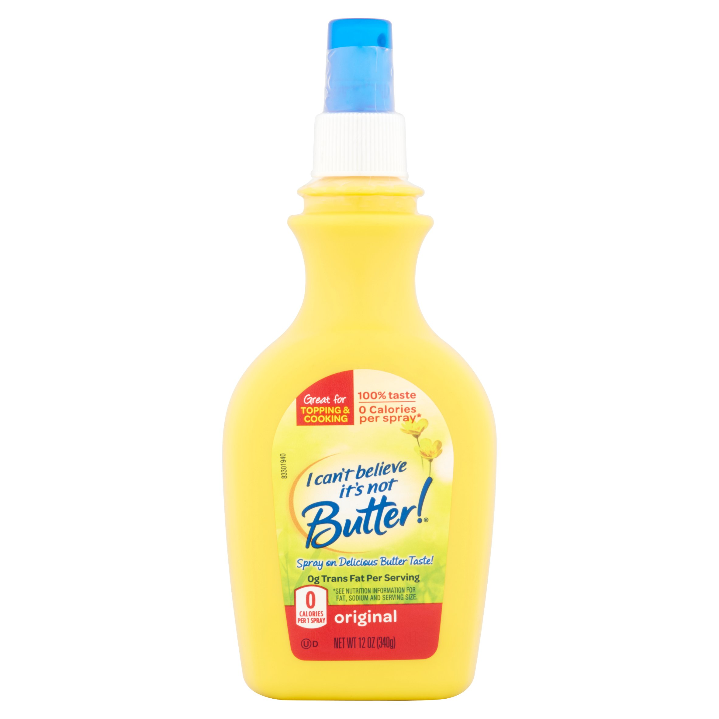 I Can't Believe It's Not Butter Original Cooking Spray, 12 oz