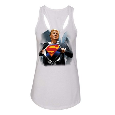 Donald Trump Shirt Superman 2016 Politics Womens Graphic Tees Racerback Tank