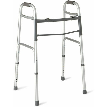 Medline Deluxe Two-Button Folding Walker ()