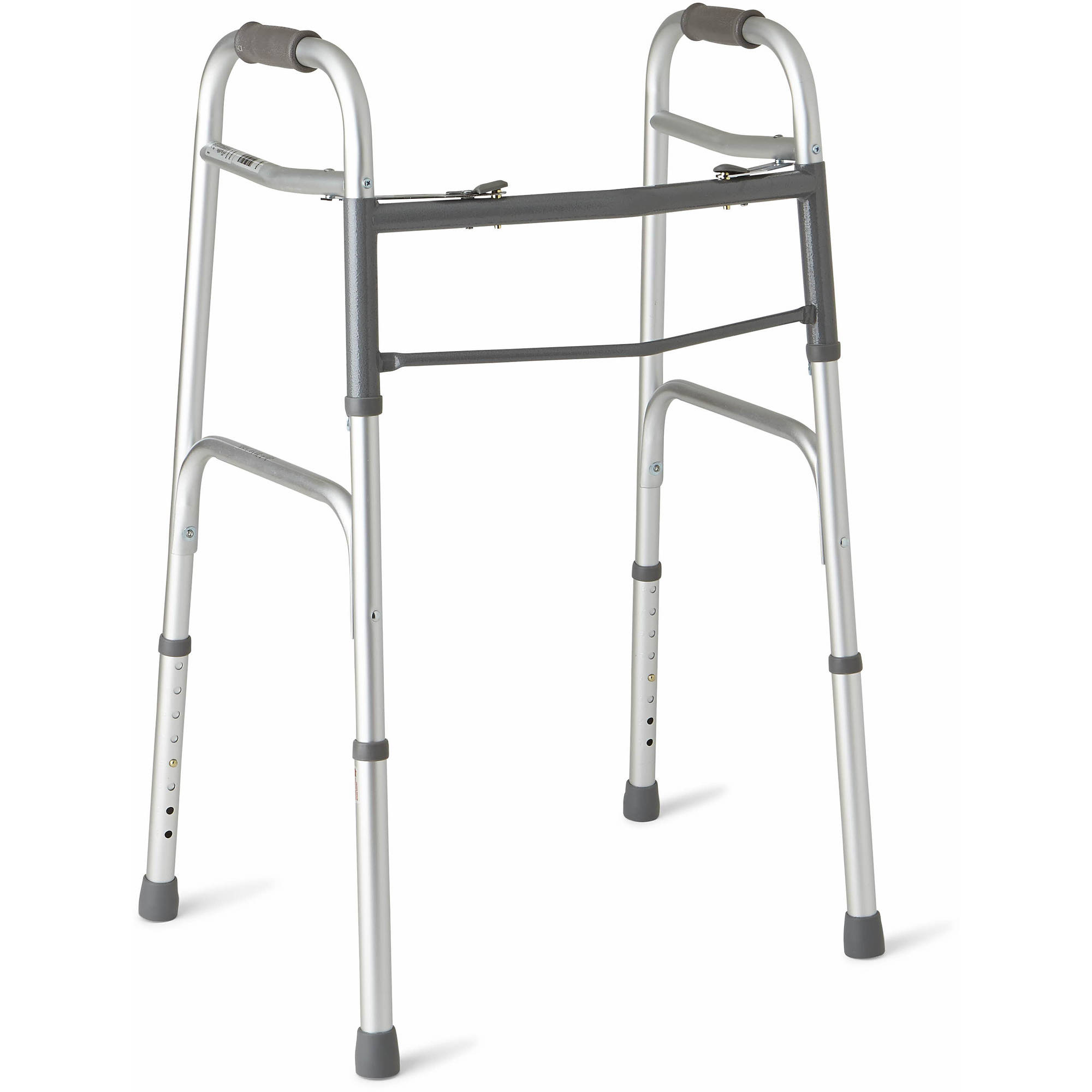 Medline Deluxe Two-Button Folding Walker