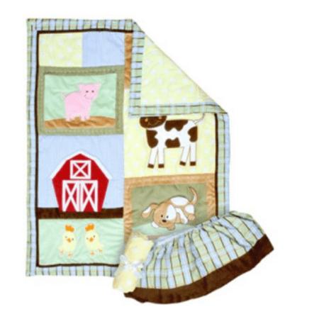 Trend Lab Baby Barnyard 3 Piece Crib Set