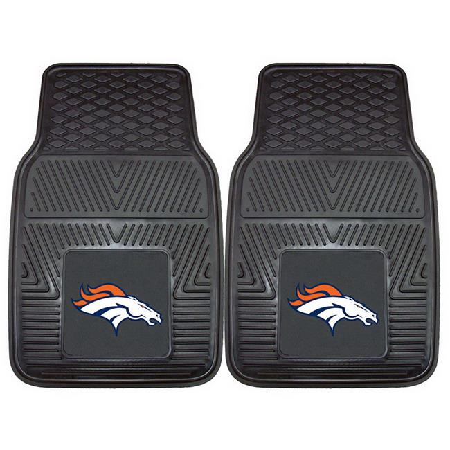 Denver Broncos Car Mats Heavy Duty 2 Piece Vinyl