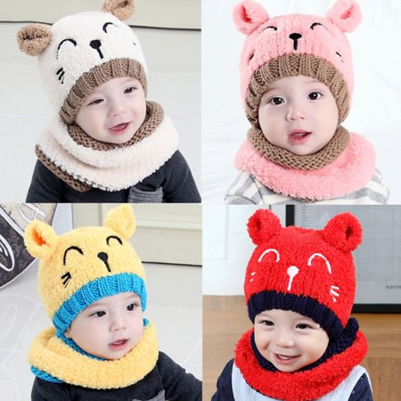 874fbc482d4 Heepo - Heepo Cute Cat Pattern Baby Toddler Autumn Winter Warm Round Hat  Beanie Cap Gift - Walmart.com