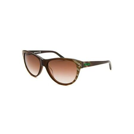 New Just Cavalli Jc497s Womens/Ladies Cat Eye Full-Rim Gradient Brown / Pearl Frame Gradient Brown Lenses 56-15-135 Sunglasses/Shades