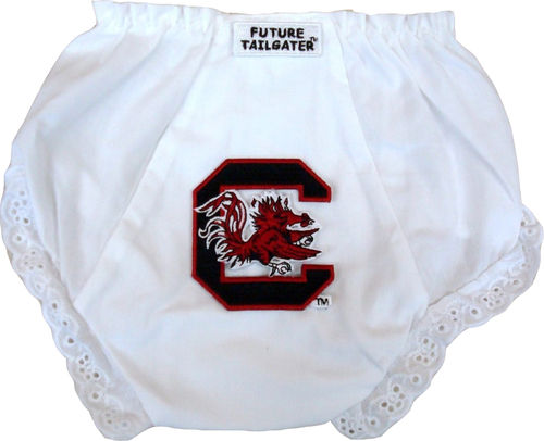 South Carolina Gamecock Eyelet Baby Diaper Cover by Future Tailgater
