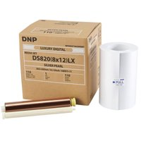 "DNP DS820A Printer Luxury Media, 8x12"" Silver Pearl Roll, 110 Prints Per Roll, 1-Pack"
