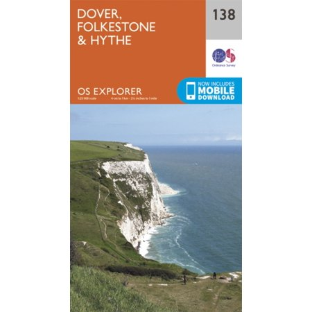 OS Explorer Map (138) Dover, Folkstone and Hythe (Map)