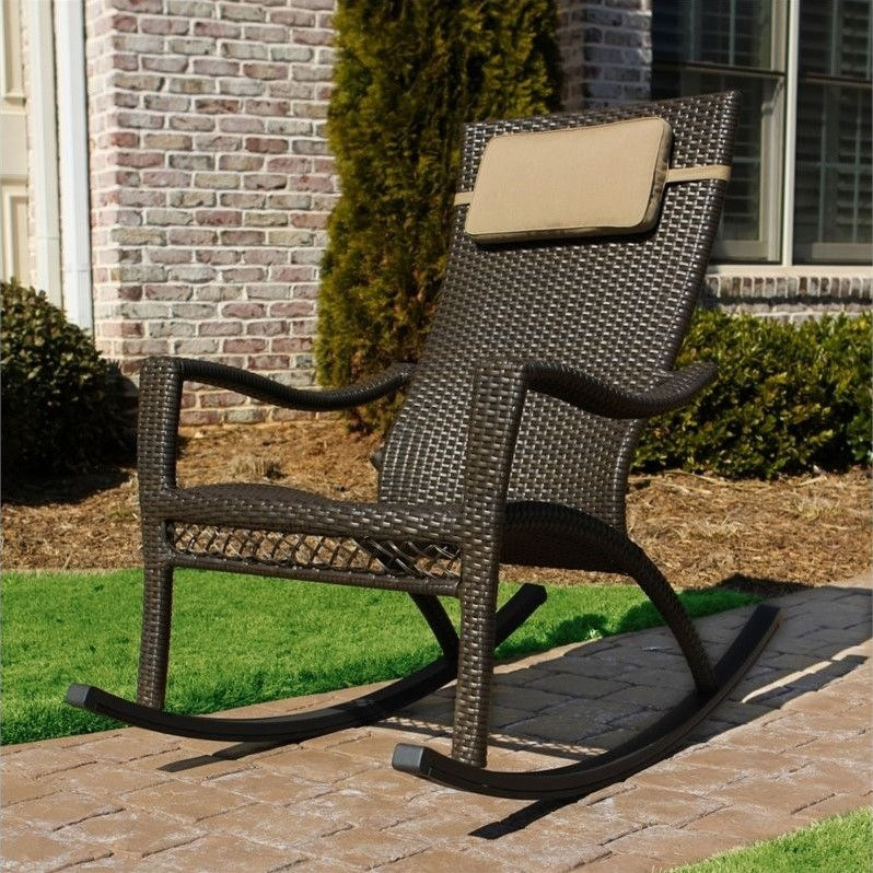 Tortuga Tuscan Lorne Rocking Chair in Antique Gray