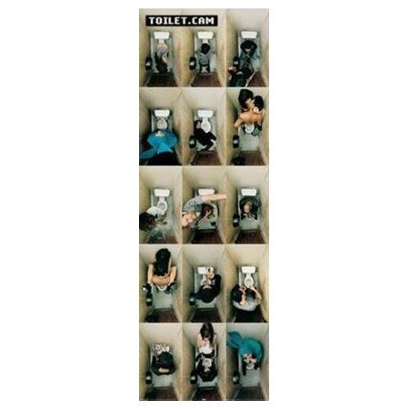 Toilet Cam (Bathroom Scenes) 36x12 Art Print Poster Sexy and Saucy