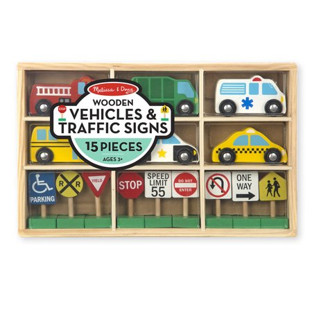 Melissa & Doug® Wooden Vehicles & Traffic Signs