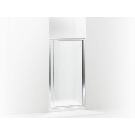 Sterling 1500D-36S Vista Pivot II 31.25u0022-36u0022W x 65.5u0022H Framed Pivot Shower Door, Silver/Pebbled Glass Texture