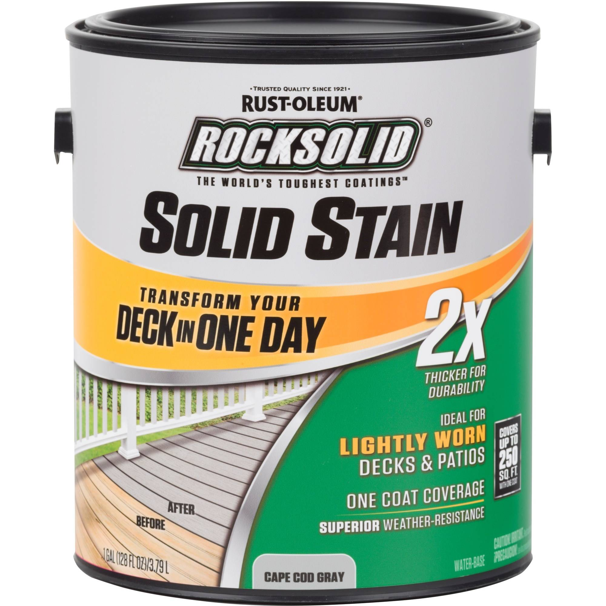 ROCKSOLID 2X Solid Stain Gallon- Cape Cod Gray
