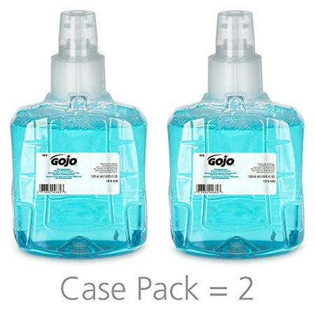 - GOJO LTX Refill, 1916-02 - Blue Pomegranate Scented Antibacterial Handwash (1200 mL) - 2 Pack