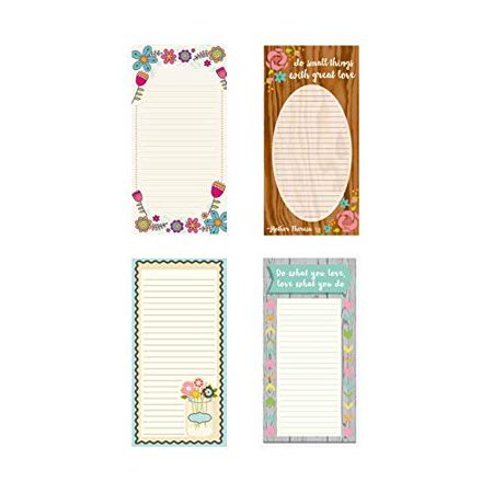 - Grocery List Notepad Set of 4 to Do List Magnet Notepad 4in x 8in