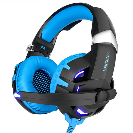 ONIKUMA K2 Stereo 7.1 Surround Sound Gaming Headsets USB w/Mic for PS4 PC
