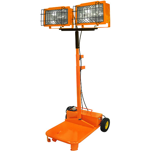 Designers Edge Telescoping Metal Halide Industrial Work Light, Orange, 2000-Watt