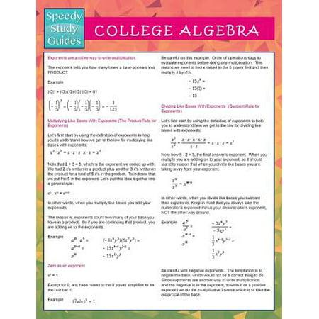 College Algebra (Speedy Study Guides) (Best College Algebra Textbook)