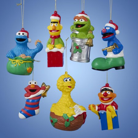 Club Pack of 24 Sesame Street Character Assortment Decorative Christmas  Ornaments - Club Pack Of 24 Sesame Street Character Assortment Decorative