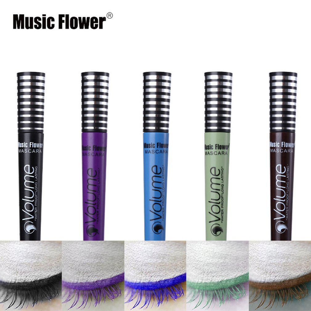 Music Flower Makeup Mascara Long Curling Thick Mascara Eyelash Length Extension Brush Women Beauty Cosmetics for Eyes Make Up
