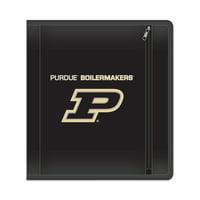 """NCAA Purdue Boilermakers Zippered 3 Ring Binder, 250 Sheet Capacity, 1.625"""" Metal Rings"""