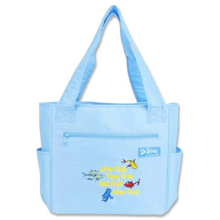 Dr Seuss Tote Bags (Trend Lab Dr. Seuss Tulip Diaper Tote Bag, One Fish, Two Fish, Red Fish, Blue)