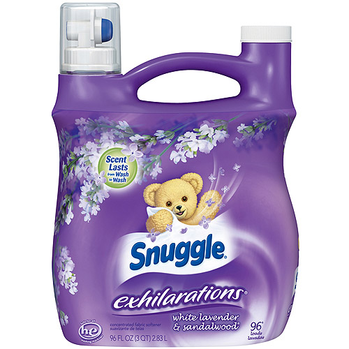 Snuggle Exhilarations Liquid Fabric Softener, White Lavender & Sandalwood Twist, 96 oz
