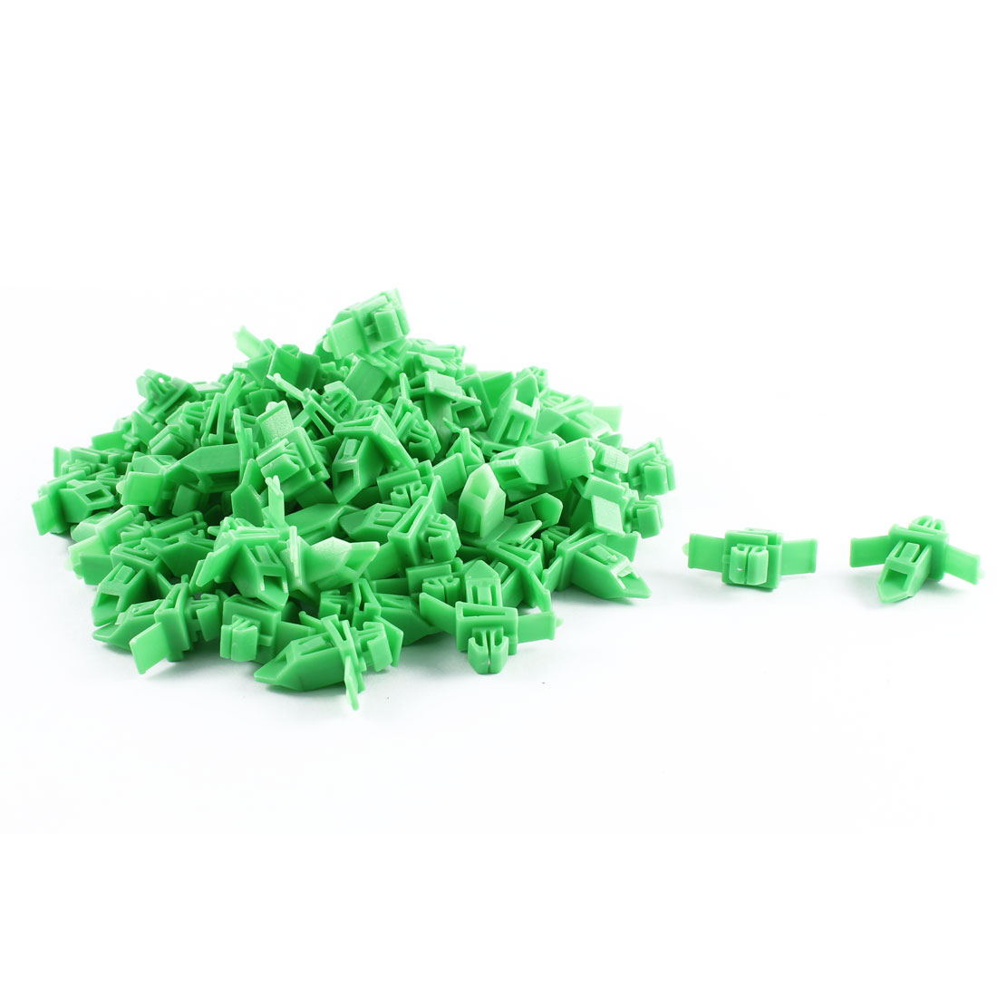 Unique Bargains 80 Pcs Green Plastic Splash Defender Interior Fastener Mat Rivet for Toyota