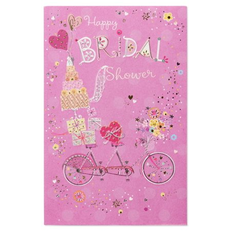 American Greetings Bicycle Happy Bridal Shower Wedding Card with - Happy Bridal Shower