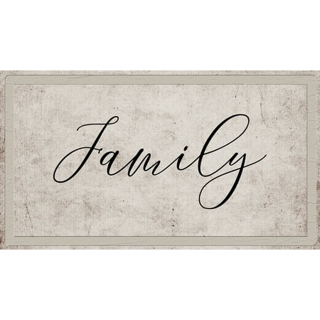 Family Farmhouse Style Metal Country Sign 10x18 Inches Plastic Wall Home Decor Signs
