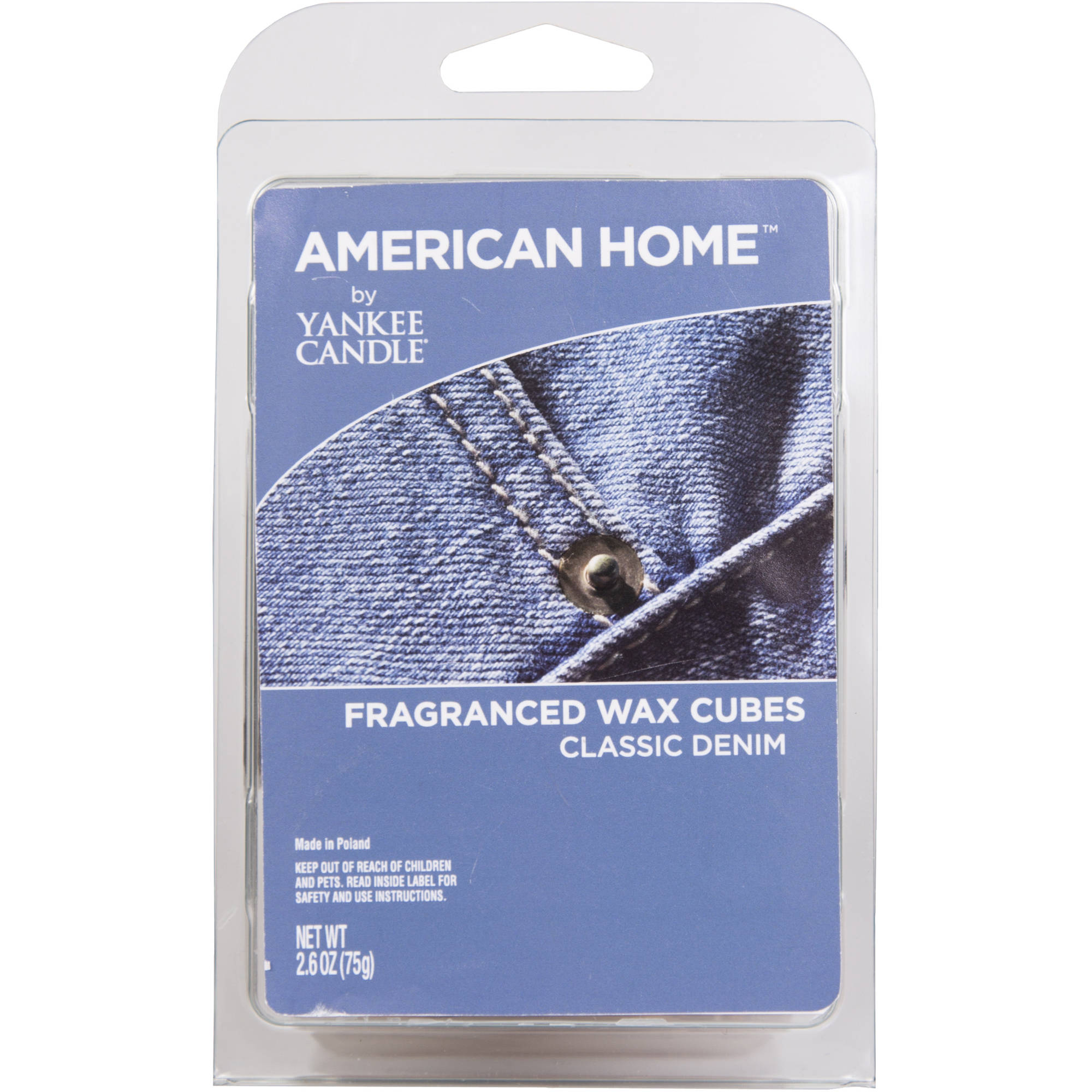 American Home by Yankee Candle Classic Denim, 2.6 oz Fragranced Wax Cubes