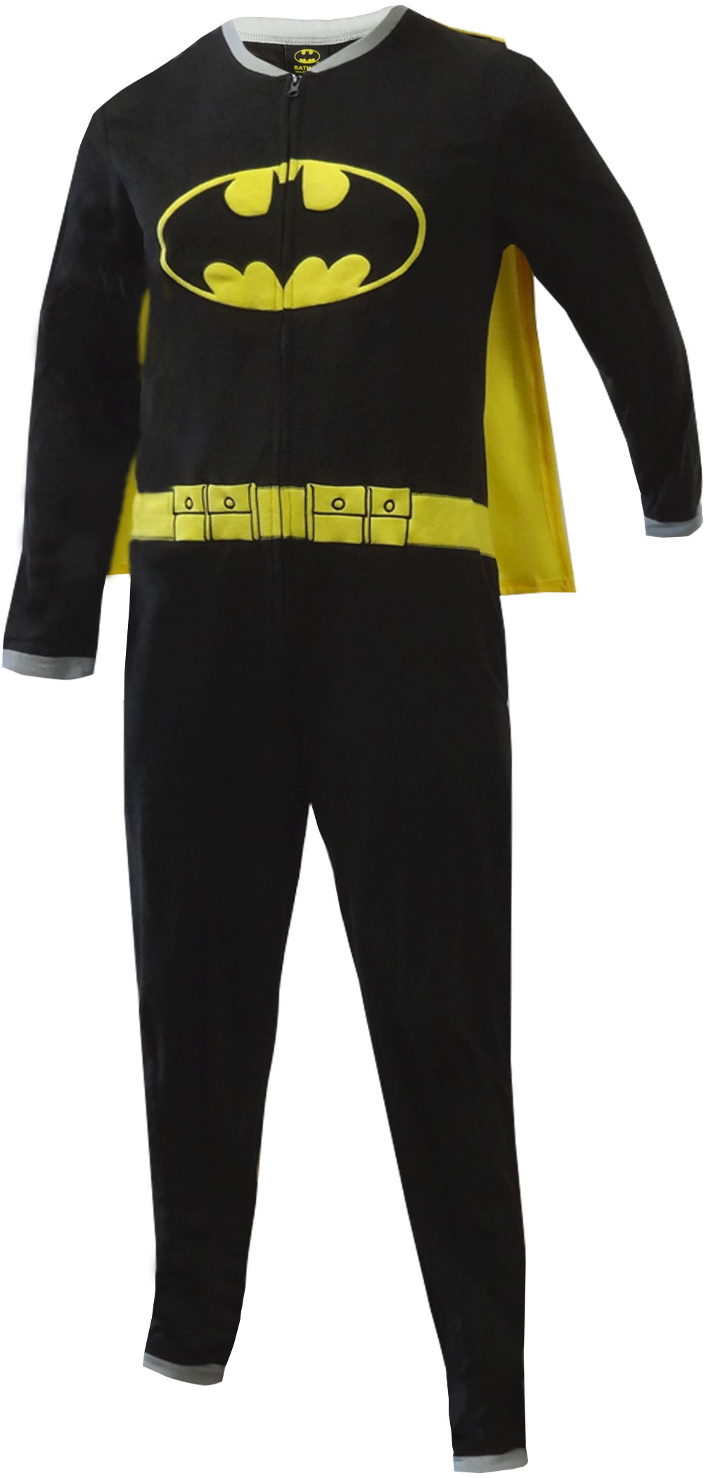 Batman One Piece Fleece Pajama with Cape by Bioworld Merchandising