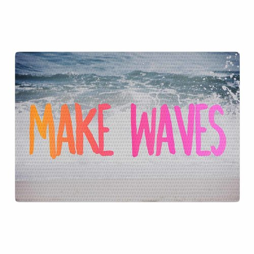 East Urban Home Chelsea Victoria Make Waves Photography Pink Area Rug