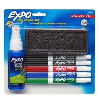 Expo Dry Erase Marker Starter Set, Fine Tip, Assorted Colors, 7-Piece Kit