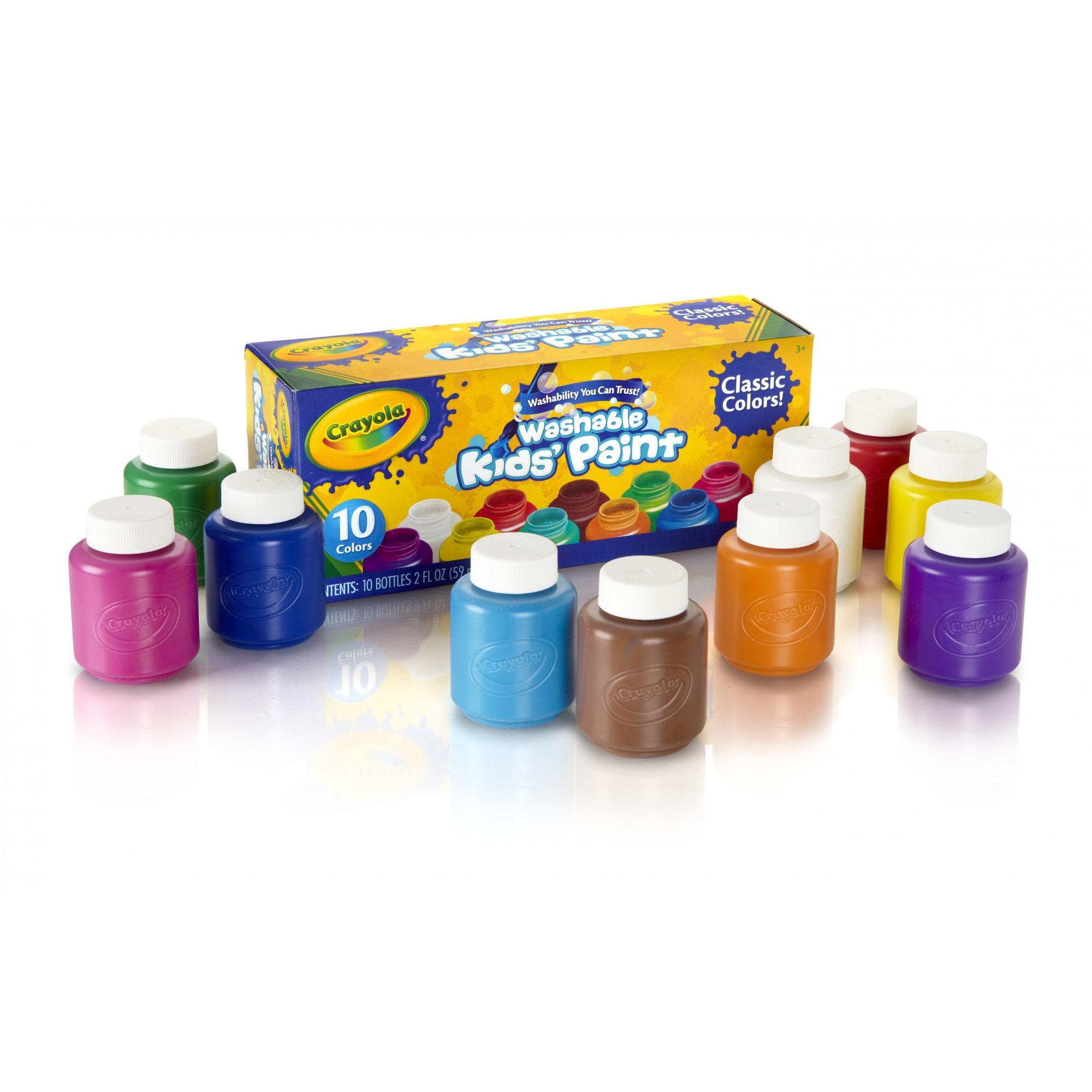 Crayola 10 count Washable Kids Paint in 2 oz. bottles - Walmart.com