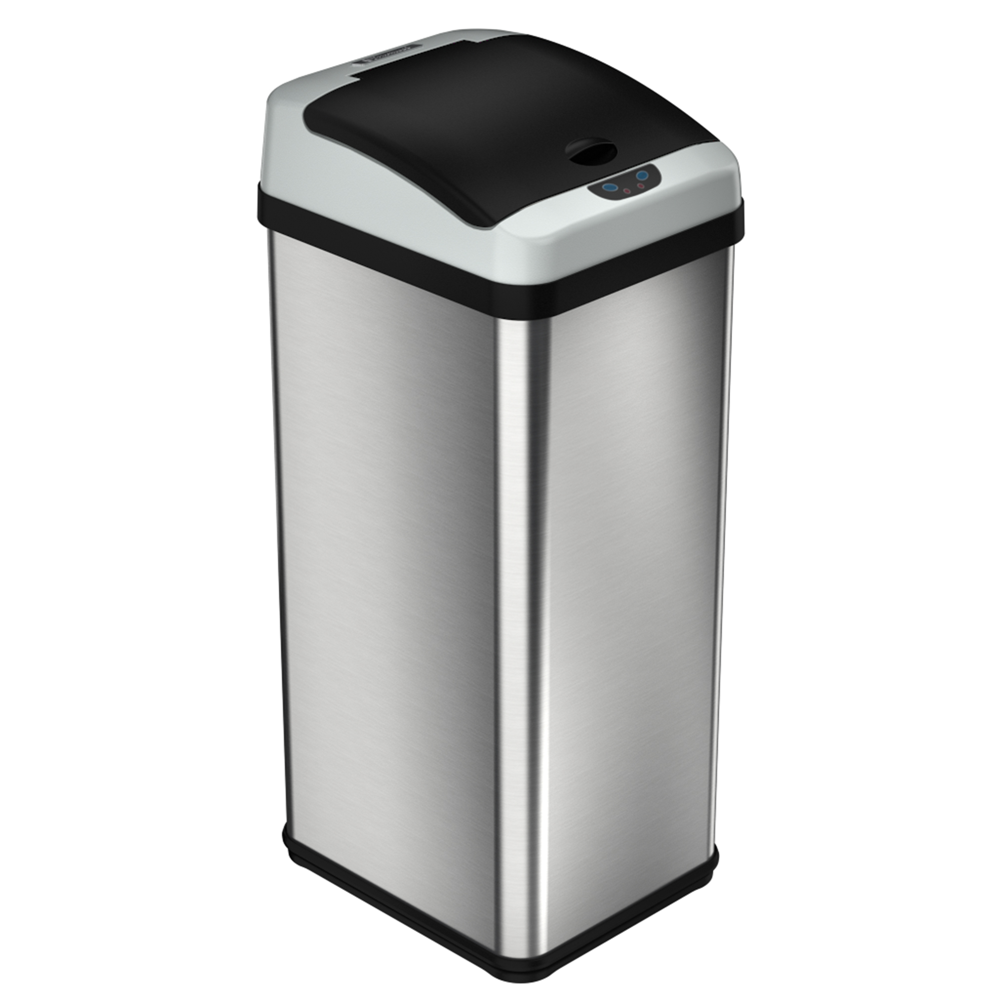 TOUCH FREE STAINLESS STEEL 13 GALLON TRASH CAN