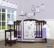 GEENNY Boutique Baby 13 Piece Nursery Crib Bedding Set, New Lavender