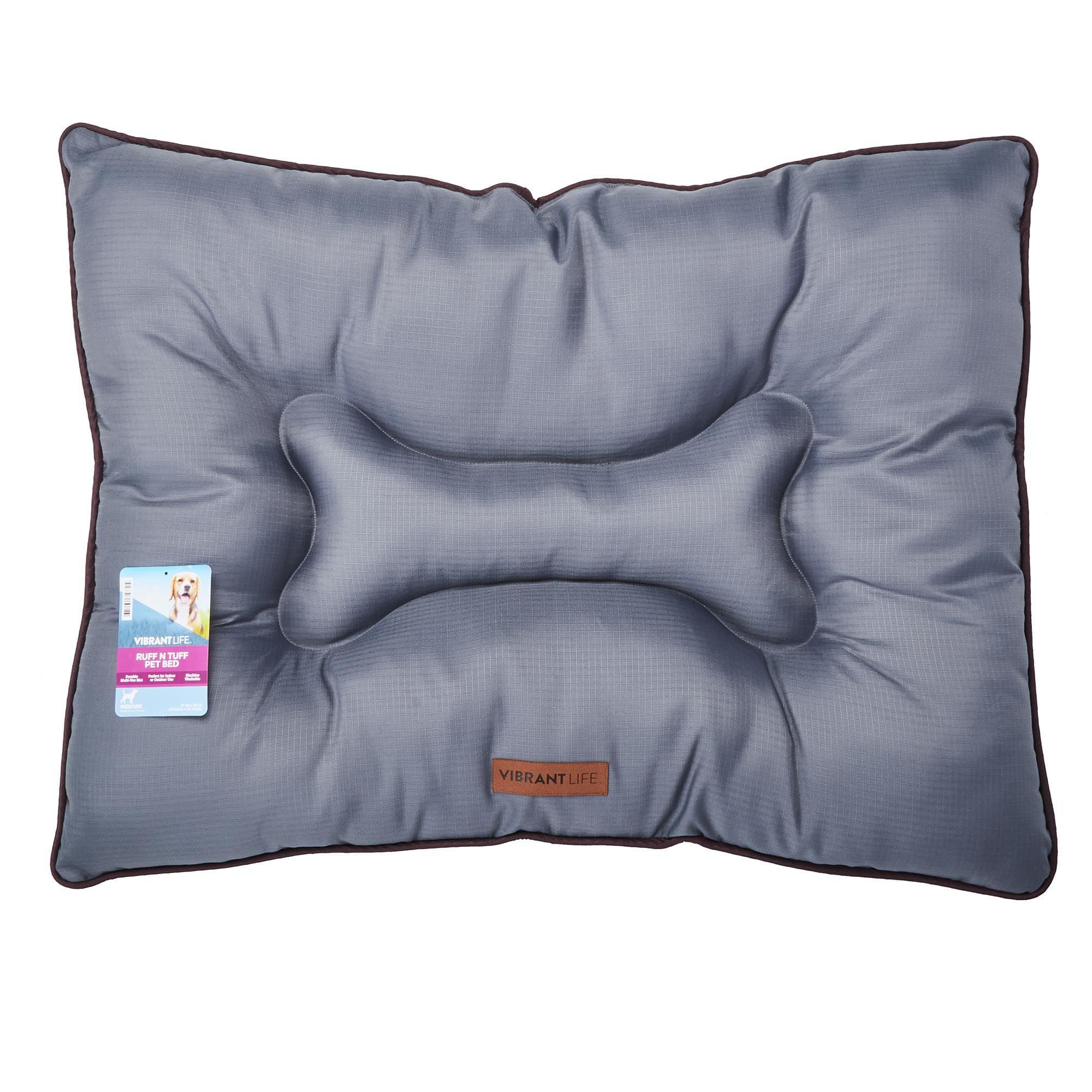 Vibrant Life 27 X 36 Ruff N Tuff Indoor Outdoor Durable Pet Bed Medium Gray Walmart Com Walmart Com