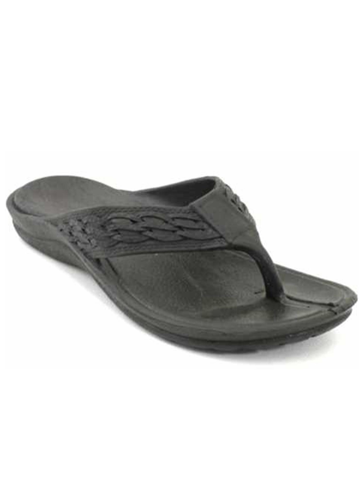 Pali Hawaii Unisex PH 198 Thong Sandal-Black-Size 10