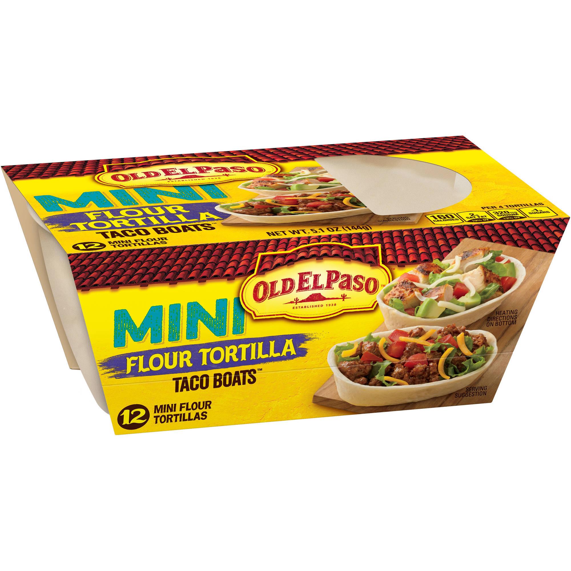 Old El Paso® Mini Soft Stand 'n Stuff™ Flour Tortilla Taco Boats 12 ct Pack