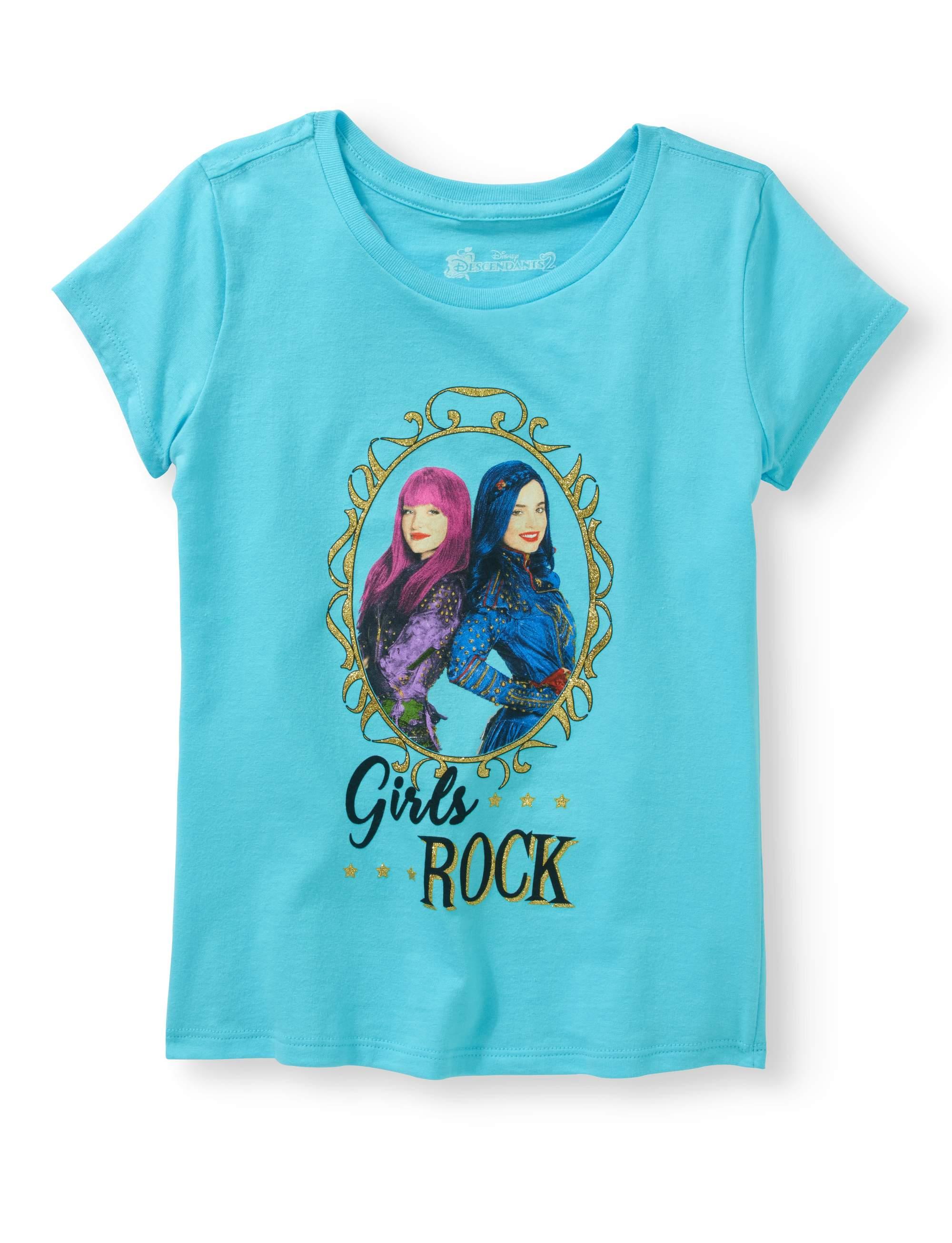 Girls Ss Folded Tee Shirt