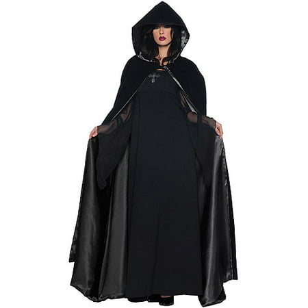 Black Cape and Black Deluxe Adult Halloween Accessory - Halloween City Cape Coral