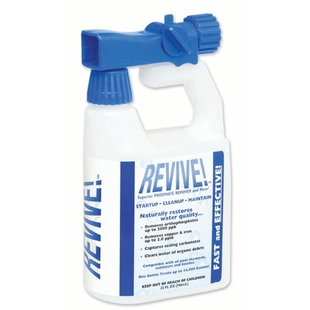 Revive Swimming Pool Phosphate Algae Remover Chemical For Pools 32 Oz