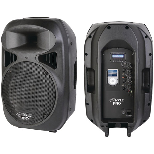 Pyle Pro PPHP1299AI 12'' 1000W 2-Way Full-Range Powered Loud Speaker System with Built-In iPod Dock