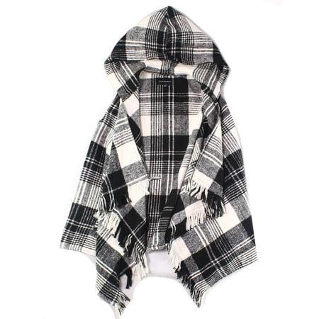 Plaid Sweater Vest (Girls Plaid Fringe Open-Front Vest Sweater)