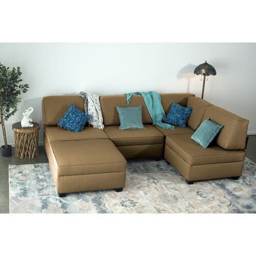 Red Barrel Studio Anke Reversible Modular Sectional with Ottoman