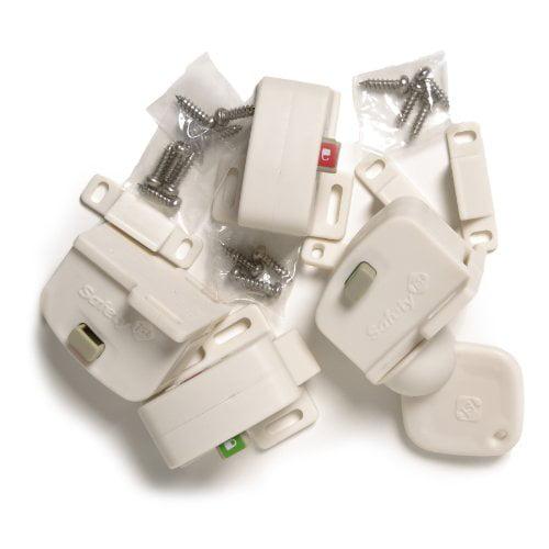 Safety 1st Magnetic Cabinet Locks, 4 Locks + 1 Key by Safety 1st