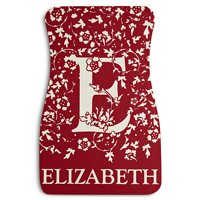 Personalized Initial Car Mats, Available in 4 Colors