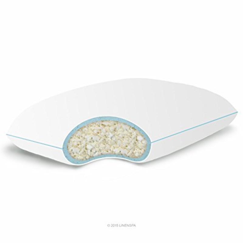LinenSpa Shredded Memory Foam Pillow with Gel Memory Foam...
