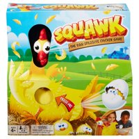 Squawk Eggsplosive Chicken Game for Kids, 2-4 Players Ages 4Y+